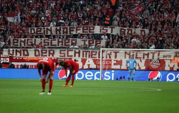 Spruchband Benfica Heimspiel